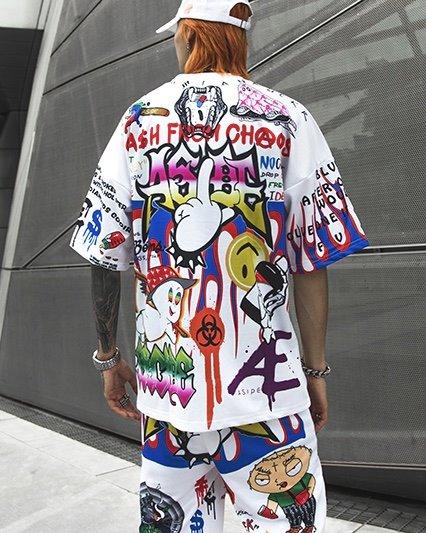 《2色》CHAOSカートゥーングラフィティTシャツの画像3